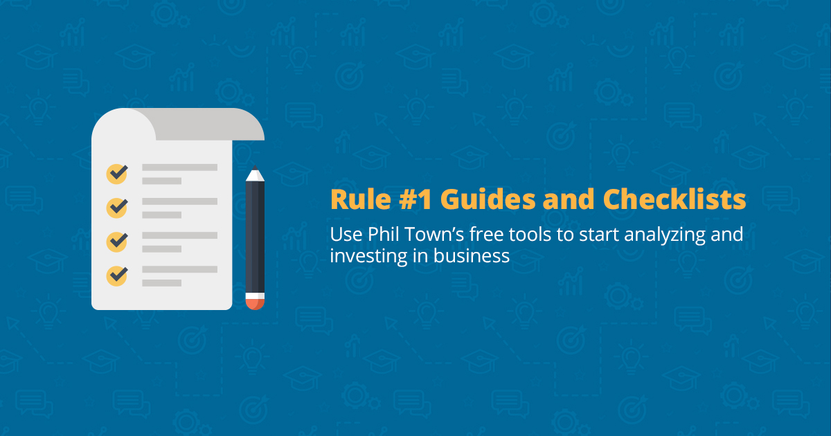 rule 1 investing guides and checklists rule one investing