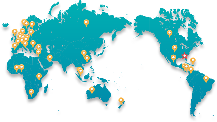 Workshop attendees locations